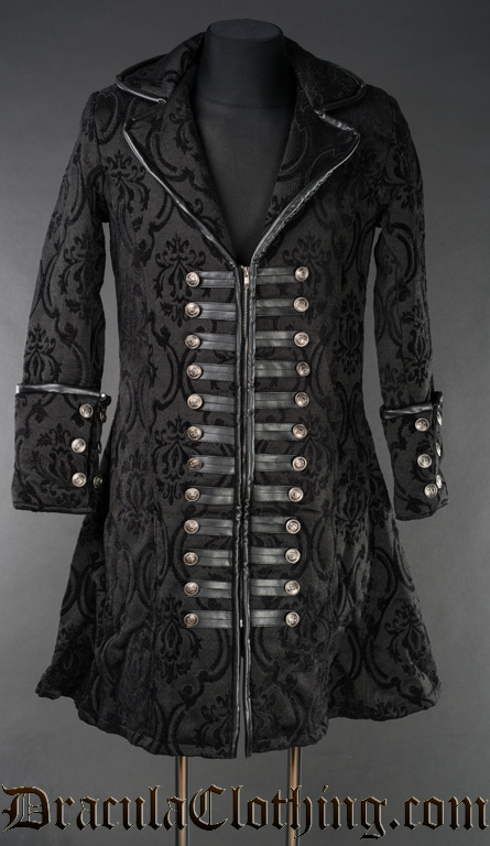 Black Brocade Captain Coat