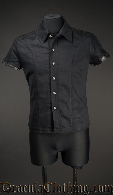 Faux Leather Shirt
