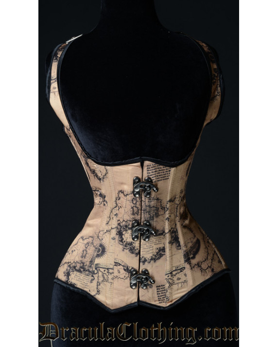Map Shoulder Clasp Corset
