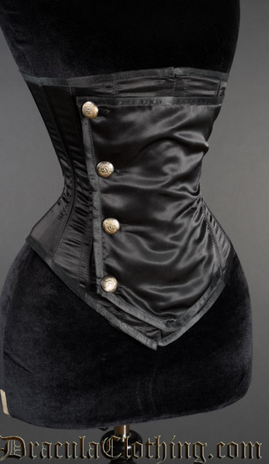 Black Satin Officer Corset