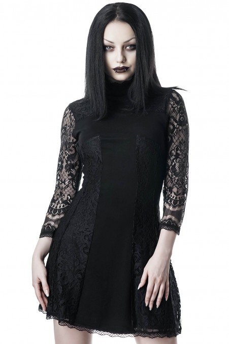 Killstar Crossed Over Lace Dress