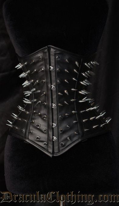 Hedgehog Faux Leather Corset