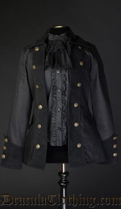Black Female Pirate Jacket