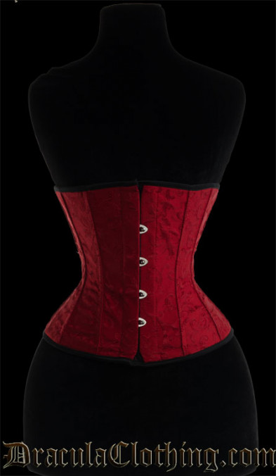 Red Brocade Corset