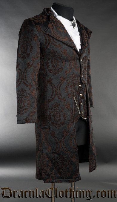 Steampunk Brocade Elegant Tailcoat