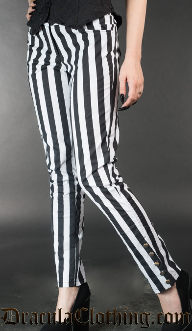 Striped Five Button Pants