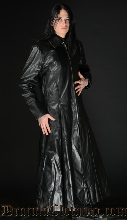 Faux Leather Warrior Coat