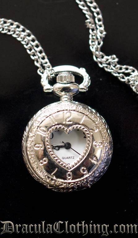 Heart Necklace Watch